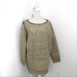 Maison Scotch And Soda Wool Alpaca Beige Sweater